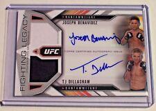 15 Topps UFC Chronicles Dual Relic Autograph Joseph Benavidez TJ Dillashaw /10