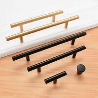 T Bar Modern Wardrobe Pull Cabinet Door Handles Drawer Pulls Knobs Black Gold 1x