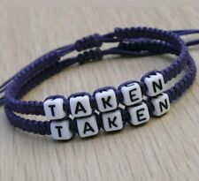 1 PAIR Handmade PURPLE, (TAKEN)-. A Couple Friendship matching Erik's bracelets