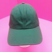 VINTAGE KELLY GREEN UNSTRUCTURED ADJUSTABLE  HAT CAP COTTON MADE IN USA (G-5)