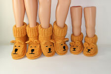 PRINTED KNITTING INSTRUCTIONS - ADULT TEDDY BEAR SLIPPER BOOTS KNITTING PATTERN