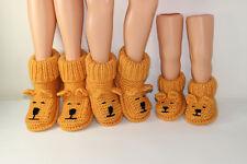 Stampato Knitting istruzioni-Adulto Orsacchiotto Pantofole Con Stivali knitting pattern