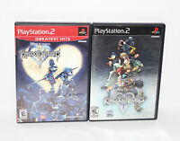 Disney's Kingdom Hearts 1 + 2 Bundle LOT (Sony Playstation 2 PS2) Excellent