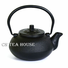 600ml Black Hobnail Tetsubin Kettle Cast Iron Tea pot with Infuser Filter Teapot