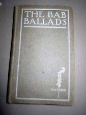 "The ""Bab Ballads"" Much Sound, Little Sense 1906 antique illustrated humor comics"