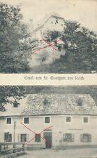 Nr.25249 PK Gruss aus St. Georgen am Reith Bez. Amstetten Gasthaus Geschäft N.Ö.