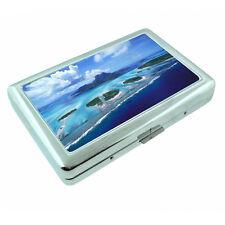 Fiji Islands D7 Silver Metal Cigarette Case RFID Protection Wallet Tropical