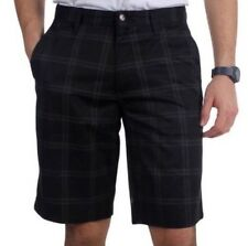 "VOLCOM ""FRICKIN PLAID CHINO"" SHORTS - Men's Sz 36 black plaid Casual  It/132"