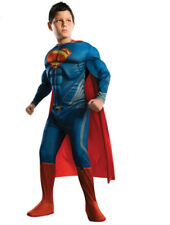 Superman Suit Children Size Large 125-135 cms Fantasy Muscle Super Hero Avenger