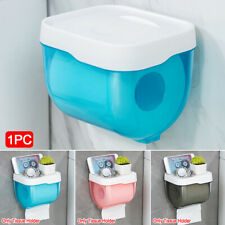 Wall Mounted Toilet Roll Holder Bathroom Tissue Paper Storage Box Waterproof