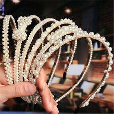 Fashion Women Girl's Pearl Hairband Headband Crystal Hair Hoop Hair Accessories