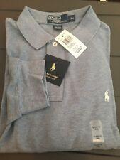 Polo Ralph Lauren Long Sleeve Lt Chambray Blue Cotton LS Men's Shirt XXL NWT