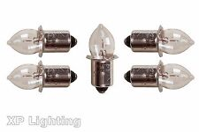 5X Torch Bulb 4.8V Krypton PF (Pk of 5 Dencon 617/5P) 4.8Volt [4Cell]