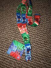 "PJMasks Lanyard  18.5"" 46 Cm New Kids 3+ Multi Colors  Key ID Holder + Clasp"