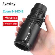8-24x42 Zoom Optics Monocular Telescope BAK4 Waterproof for Bird Watching Travel