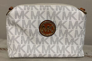 Michael Kors Small Crossbody Purse Preowned White Logo-No Strap