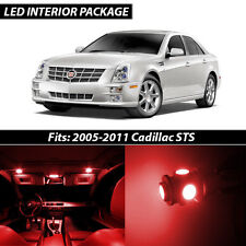 2005-2011 Cadillac STS Red Interior LED Lights Package Kit