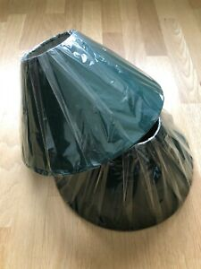 """2 LAMPSHADES 12""""GREEN COOLIE TABLE & CEILING SHADES ( WITH VERY SLIGHT DEFECTS"""