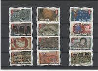 FRANCE 2010  ART ROMAN. SERIE COMPLETE DE 12 TIMBRES OBLITERES