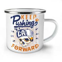 Keep Pushing NEW Enamel Tea Mug 10 oz | Wellcoda