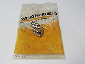"""NEW LOT OF 5 WEATHERHEAD PUSH TO CONNECT STRAIGHT MALE TUBE UNION 1162X2 1/8"""""""