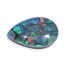 NIB $49.99 Genuine Australian Mosaic Opal Loose Gem 0.56 Cts  (8x5 mm)  W-34