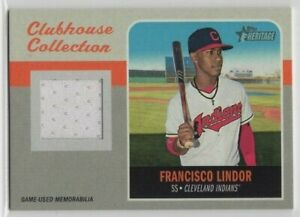 2019 Topps Heritage Clubhouse Coll. Relics Francisco Lindor New York Mets MEM