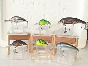 LOT OF 6 BOMBER MODEL A CRANK BAIT FISHING LURES