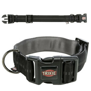 TRIXIE Softline Elegance Halsband, extra breit Halsband Hundehalsband schwarz