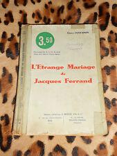 L'étrange mariage de Jacques Ferrand - Claire FONTAINES - Dupuis, coll. Azur 91