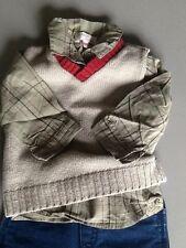 Ensemble 6 mois Catimini Jacadi Petit Boy pantalon chemise pull