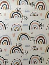 Mini Rainbow Cotton Poplin Digital Printed Fabric By The Yard