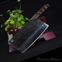 Longquan Chef slicer chip knife Kitchen Knife SanMai III T10 Steel 850g #1231