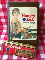 Vintage Empty Tin Pillsbury Hungry Jack Buttermilk Pancake Mix Richard Ferrell