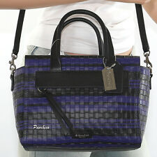 NWT COACH BLEECKER EMBOSSED WOVEN LEATHER MINI RILEY SATCHEL  BAG  31001 RARE