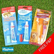 Dog Toothpaste Puppy Cat Kitten Toothbrush Finger Brush Set Pack Dental Hygiene