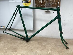 Vintage Green Sun Bicycle Road Racing Frame And Forks Retro Bike #3836