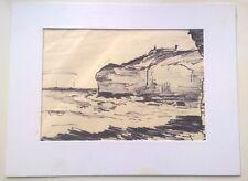 PETER SPINK  Original Pencil Drawing of Flamborough Head North Yorkshire Coast