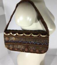 Designer K.C. Malhan Marilyn Purse Beaded Sequined Evening Purse With Tags