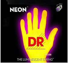 DR NYE-7-10 Neon Yellow Fluorescent Electric Guitar strings 7 String Set 10-56
