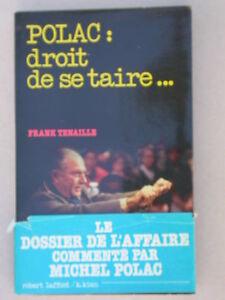 Polac - Droit de se taire - Frank Tenaille - R. Laffont Droit de réponse TF1