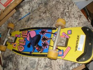 Vintage 1980s Variflex Ollie Skateboard Old School 80s wood COOL