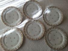 6 assiettes plates Porcelaine de LIMOGES FRANCE B&Cie
