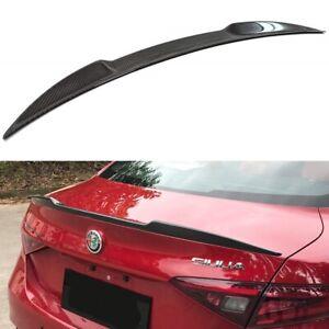 For 2017-2021 Alfa Romeo Giulia Quadrifoglio Carbon Fiber Trunk Spoiler Wing Lip