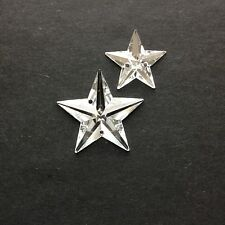 25/50 x Stars. Sew-On Facetted Stones/Gems/Jewels.15 or 22 mm. Sewing/Crafts/DIY