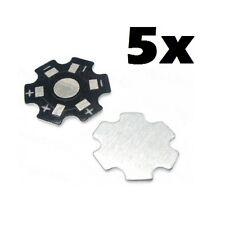 5x supporto basetta dissipatore per chip led 1W 3W 5W alluminio heat sink star