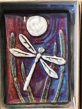 Dragonfly Raku Wall Art small (new design) - handmade & handsigned- NEW