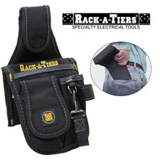 Rack-A-Tiers Butt Pouch Mini Tool Belt Holder Back Pocket Black Nylon 43015