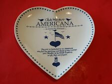 RARE CHARLES WYSOCKI WYSOCKI'S AMERICANA HEART PLATE BLUE ARTIST Signature
