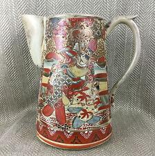 Antique Japanese carafe 19th C SATSUMA poterie peint à la main grand